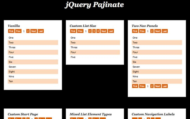 Pajinate – A jQuery Pagination Plugin