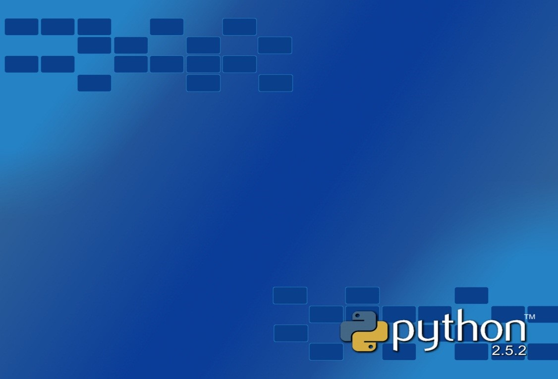 Blue Background Python Wallpaper