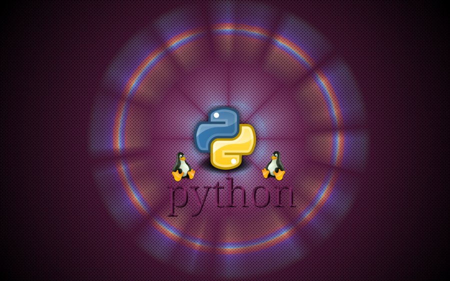 Rounded Python Logo Wallpaper
