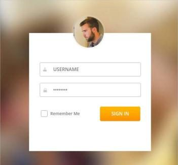 HTML & CSS Animated Login Form Template