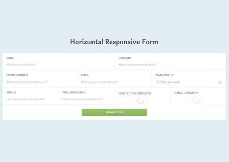 Horizontal Responsive Login Form UI Design