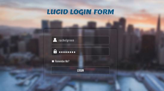 Lucid Login Form