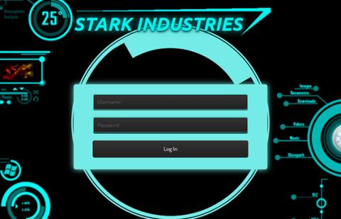 Stark Industries Login Form