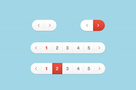 White and Red Pagination Designs
