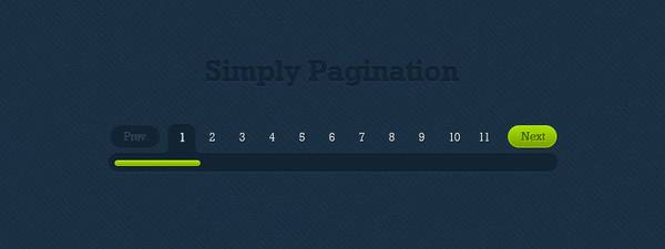 Blue and Green Simply Pagination Free