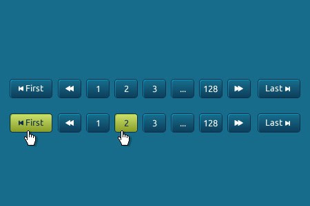 Blue and Green Pagination PSD Design