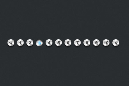 Metallic Pagination PSD