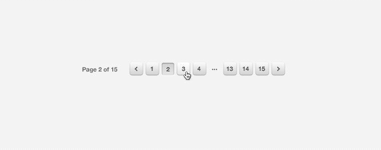 White Pagination PSD