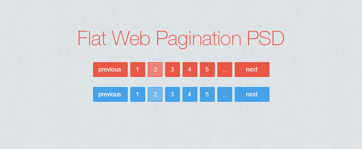 Flat Web Pagination PSD