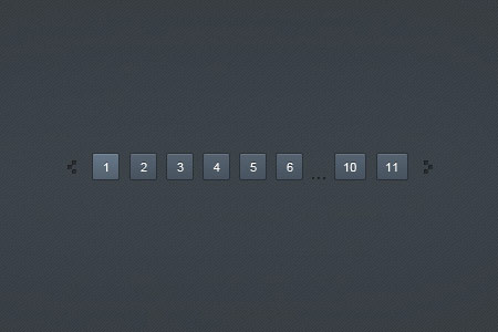 Dark Blue Pagination PSD Design