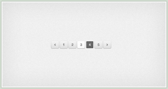 Clean and Simple Pagination PSD