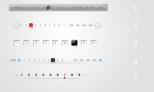 Clean Pagination 5 Style Pack 2