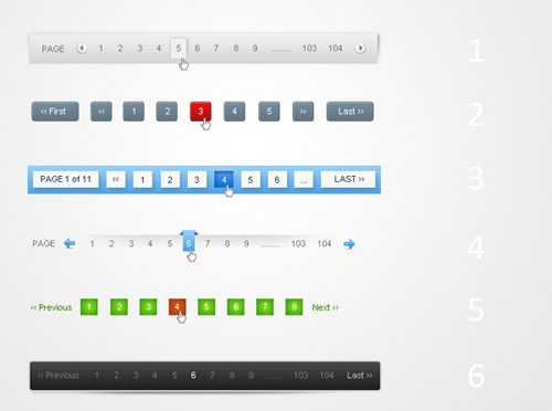 Clean Pagination 6 Style Pack 1