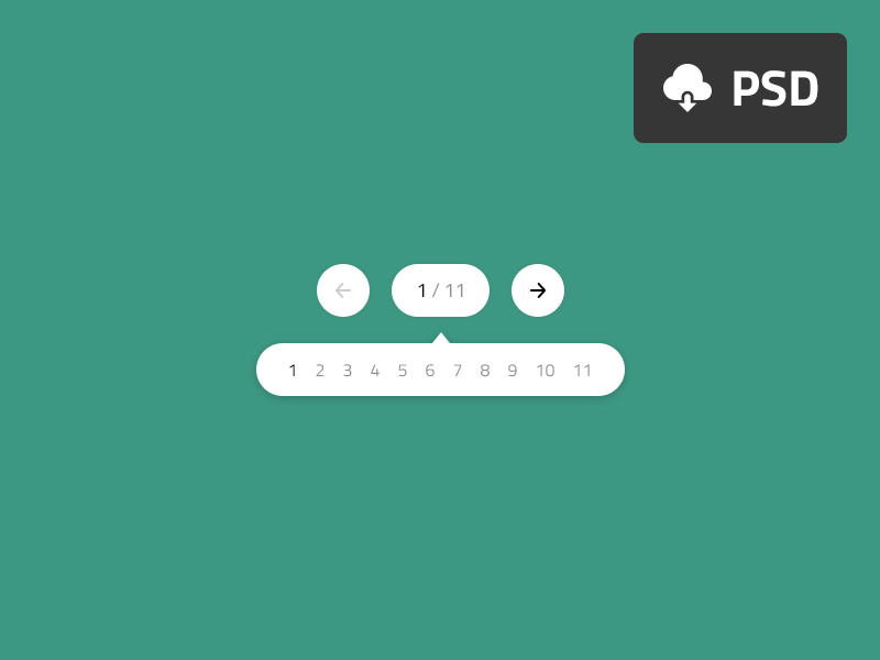 Collapse Pagination PSD