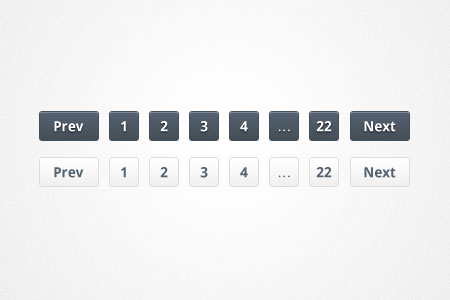 Slick Pagination PSD & CSS