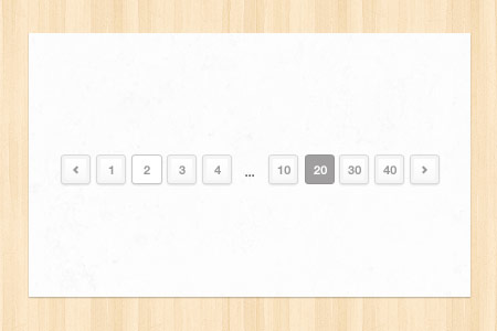 Light Pagination PSD