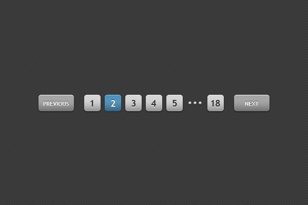 Web Pagination Button PSD