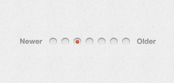 Crisp Clean Round Pagination PSD