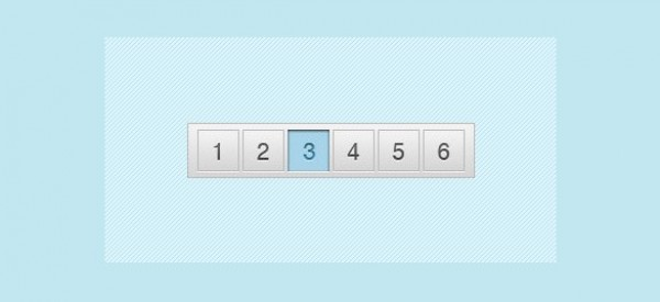 Sleek Grey and Blue Pagination PSD