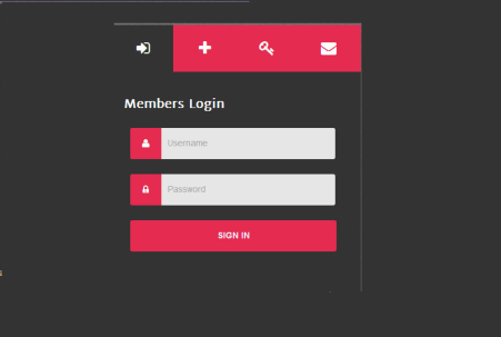 Zi-4 Tabbed Login Form