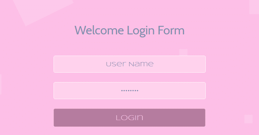 Responsive Welcome Login Form