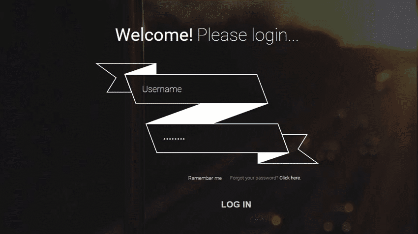 Responsive Ribbon Login Form