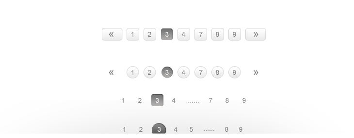Free Stylish Pagination PSD