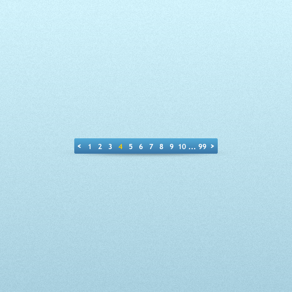 Blue Box Pagination PSD