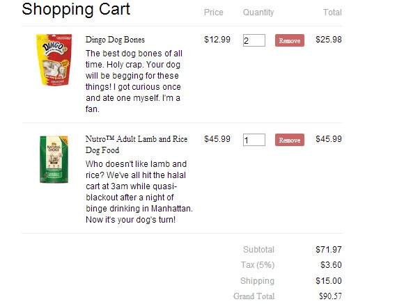Responsive Shopping Cart