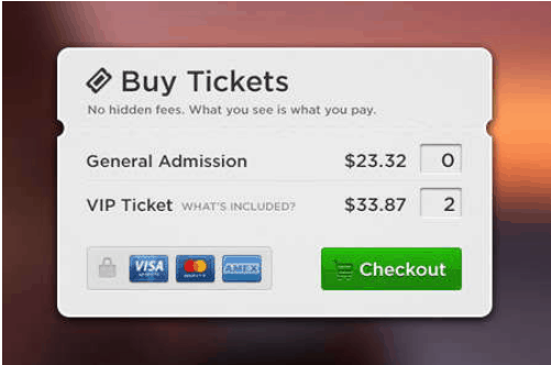 Buy Tickets Check out Design PSD