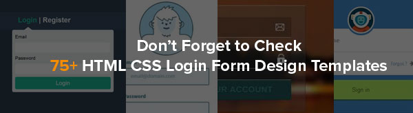 75+ HTML CSS Login Form