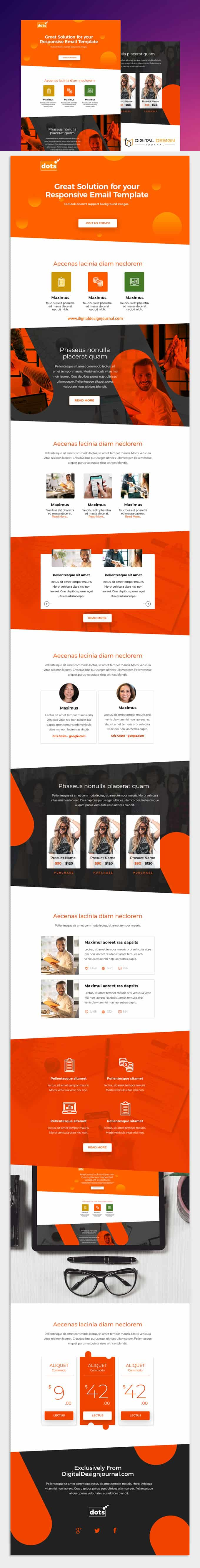 dots Free Responsive Email Template