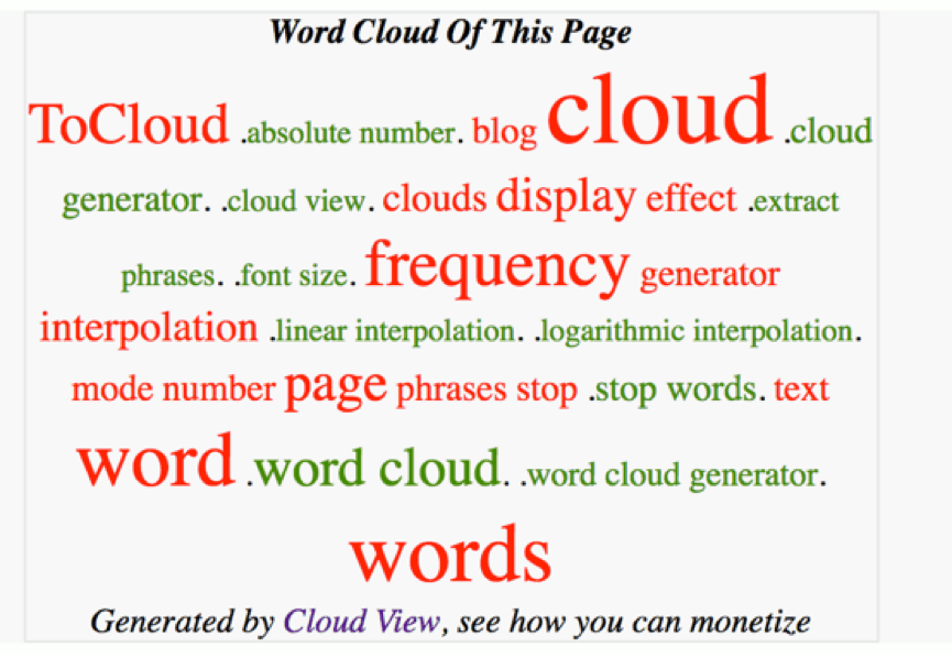 ToCloud - Word Cloud Generator