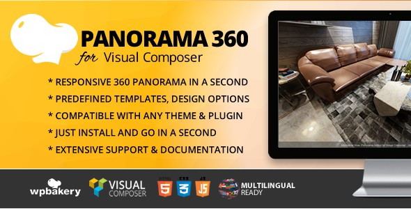 Panorama 360 Addon For WPBakery Page Builder