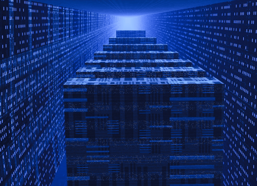 Blue Server Room HD Wallpaper