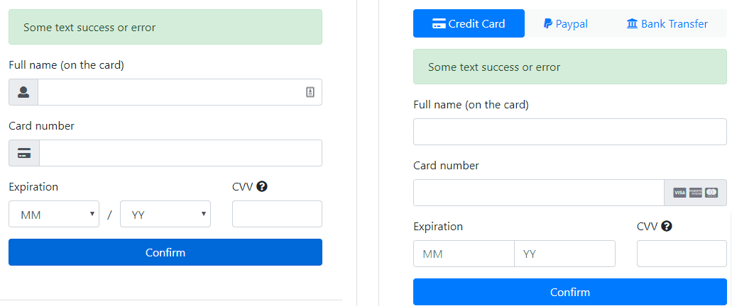 25+ Free Credit Card Payment Form HTML & CSS