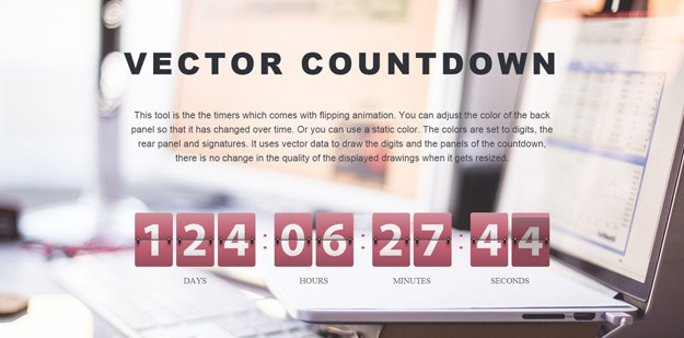 Resizable jQuery Countdown Timer Minutes Seconds