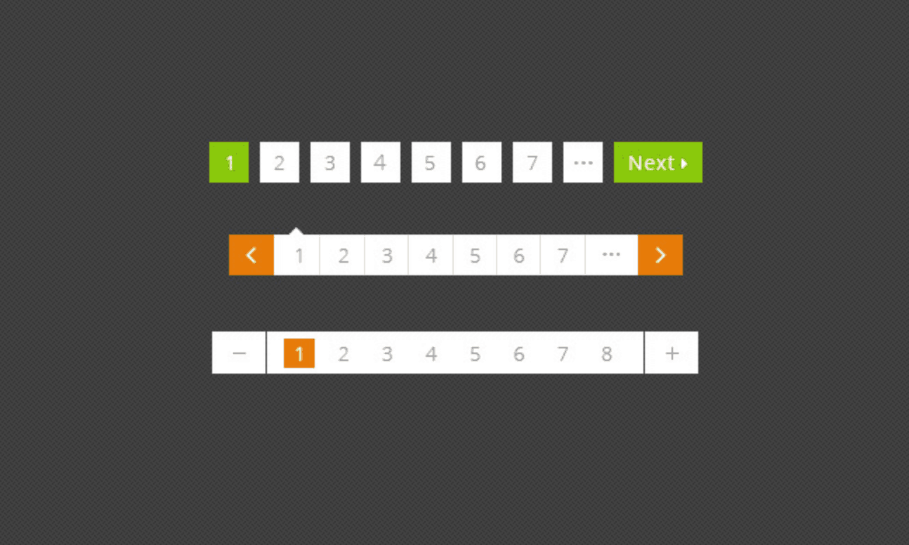 Free Pagination UI .PSD