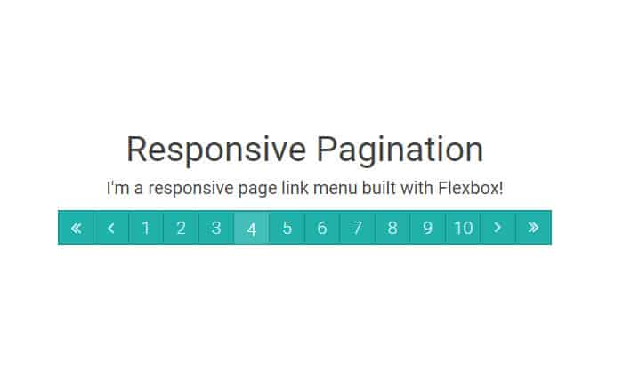 Responsive Pagination Built with Flexbox