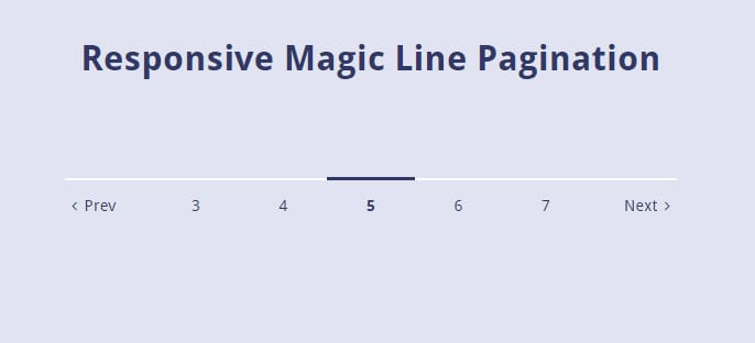 Responsive Magic Line Pagination