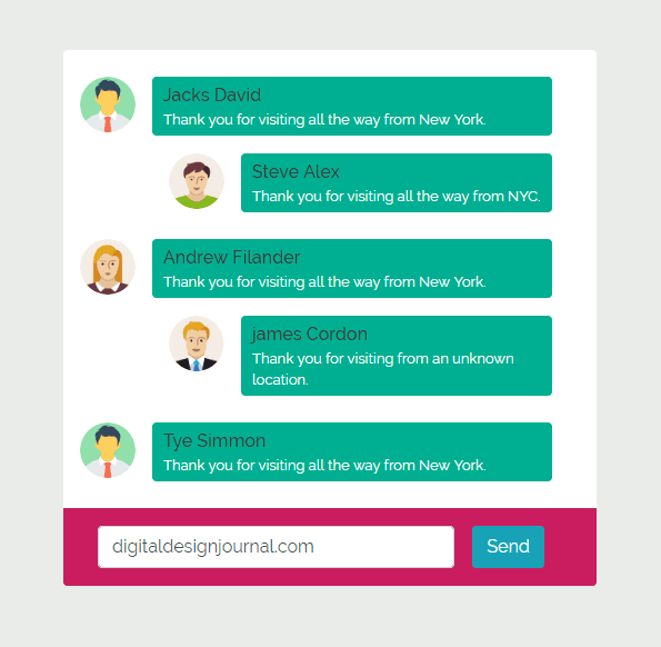 Boostrap Chat Box HTML Free Download