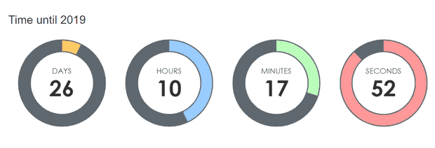 TimeCircles Countdown Timer jQuery