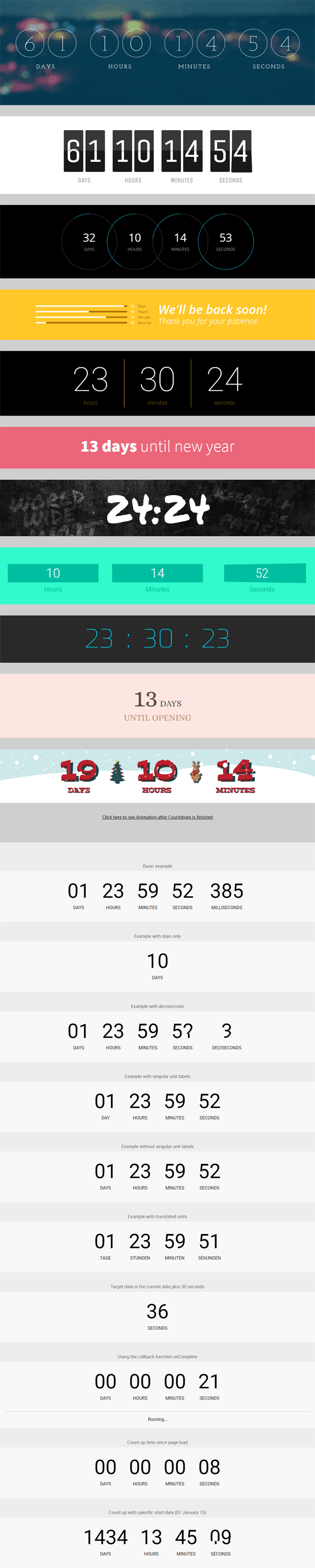 Count Everest Responsive Countdown Timer