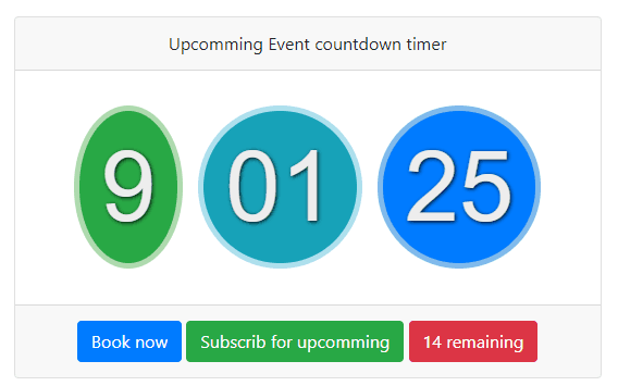 Bootstrap 4 Countdown Timer