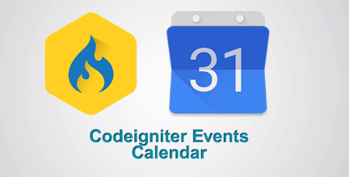 Codeigniter Resonsive Events Calendar