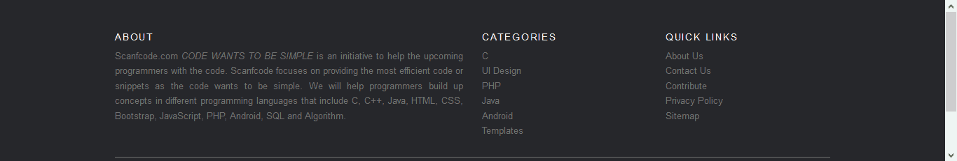 Website Footer HTML