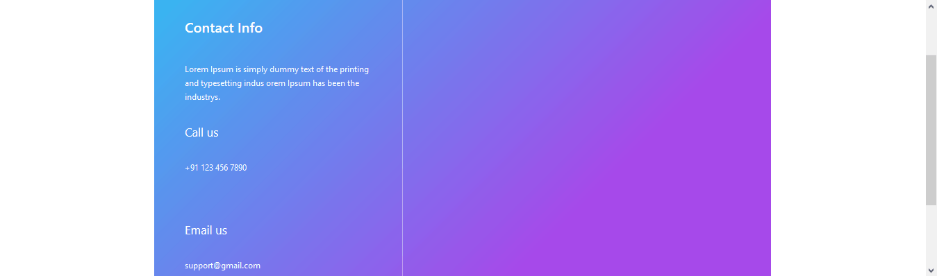 Gradient Bootstrap Footer Design