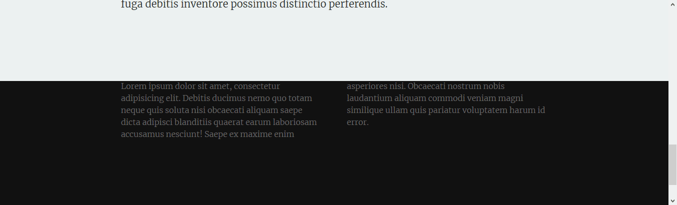 Fixed Footer without Transparency
