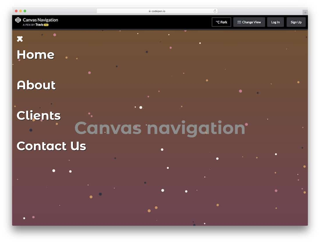 The General Canvas Navigation