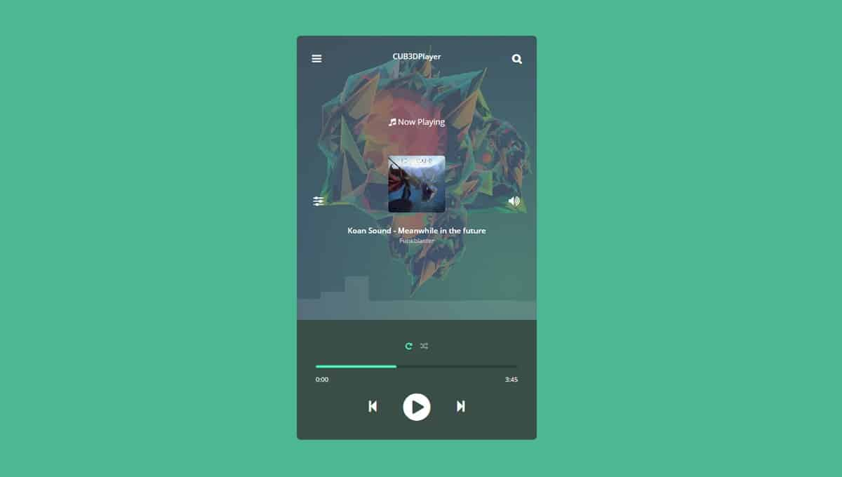 3D Cube Media Player CSS only Code Generator